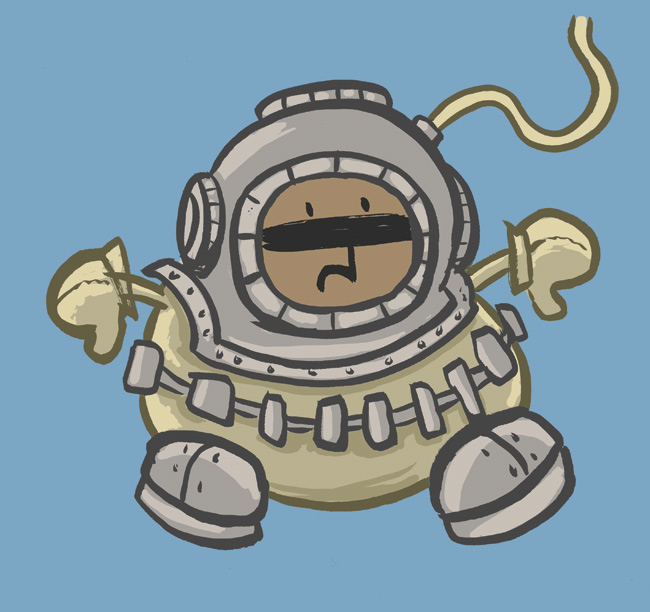 Harold-diving-suit