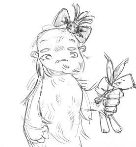 Huffy - Timonen's niece - from an unused Yeti story